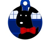 Pet ID Tag - Bowties are Cool Dog - Pet Tag, Dog Tag