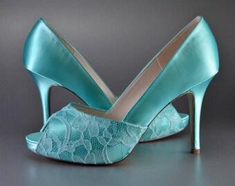 Weddings, Accessory Wedding Shoes, High Heel Peep Toe Shoes, womens dress shoes, bridal shoes, bridal accessories, dyeable wedding shoe