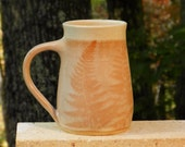 Red Fern Mug, 24oz. Handmade, Microwave friendly, Stoneware