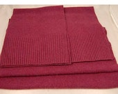 "FELTED CASHMERE PIECES ""Raspberry Jam""  Upcycled Sweater 100% Wool Scraps 1567"