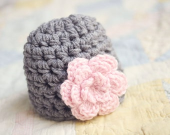 Newborn Girl Beanie / Crochet Baby Hat / Baby Shower Gift Girl / Baby Girl Hat / Hats For Babies / Infant Girl Hat / Newborn Girl Hat