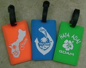 Guam Nautical Island Logo Design Travel Luggage Bag Tag Jewelry - CHOOSE YOUR Tag