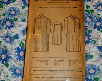 Vintage New Idea Pattern 6124  Men's Night Shirt, Size 38,  Early 1900s