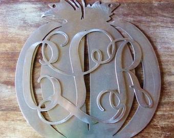 Bare metal pumpkin monograms