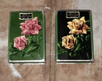 Duratone Playing Cards (2 complete sets) - Roses