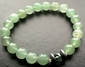 Light green beaded bracelet