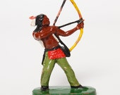 Vintage Germany elastolin composition Indian toy. Cowboys and Indians DDR.