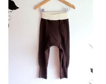 Merino Wool longies wool diaper cover/ Wool pants Ex large