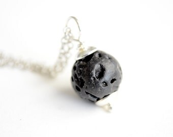 Aromatherapy Necklace, Lava Rock Necklace, Essential Oil Pendant, Oil Diffuser, Aromatherapy Jewelry