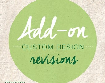 Add-on Custom Design Revisions