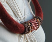 Modern Nomad - Antique Trade Beads on a Merino Rope -  Simple and Strong