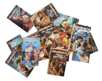 Set of 16 Romance Novels - Harlequin Books - 1980's