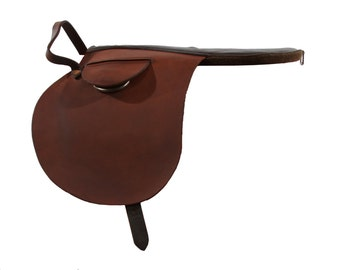 Jockey Saddle - Training Saddle - English Saddle - Leather