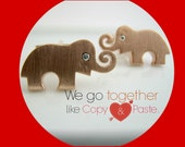 Valentine's day gift, Elephant with diamond eyes cufflinks, gifts for him, men's cufflinks, personalized cufflinks, elephant cufflinks, 707B