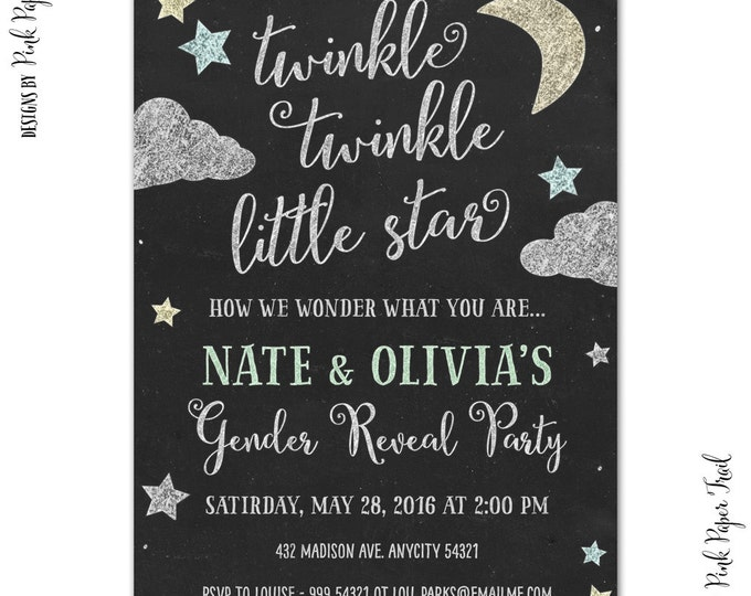 20 off coupon on twinkle twinkle little star invitation gender