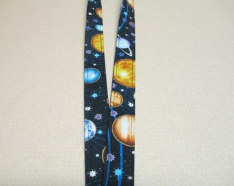 Fabric Lanyard, planets, space, solar system