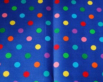 SALE, Polka Dot Fabric, 1 Yard