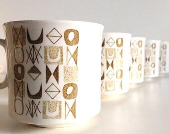 Mid-Century MayFair Shape Ironstone Coffee Mugs