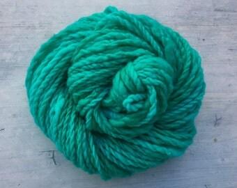 Handspun Merino Kettle Dyed Turquoise Yarn Super Bulky/Chunky