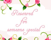 Reserved Listing for Gina