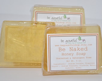 Be Naked Unscented Honey Glycerin Soap
