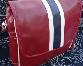 Shoulder bag - Messenger bag - Retro bag - Fake leather
