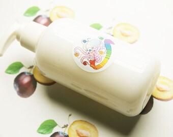 Plum Liquid Soap - Homemade Soap - Vegan Soap - Body Wash - Glycerin Soap - Hand Soap