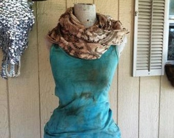 Vintage Lace Infinity Scarf Shabby Chic Rodeo Country Southern Western Sayings Custom Unique