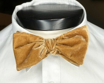 The Glasgow - Our big bowtie in Saffron Yellow Velvet