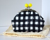 Cosmetic Frame Purse - Gingham
