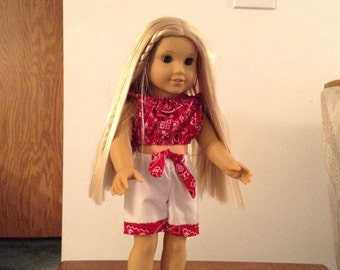 Shorts set for 18 inch and American girl doll