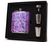 Flask for Women, Faded Floral Design HD08