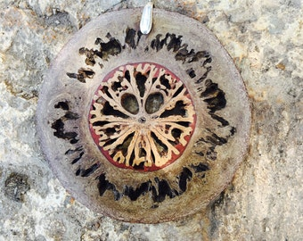 Tribal seed pendant ~