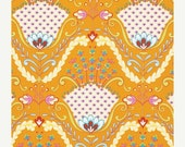SALE - LITTLE AZALEA - Dena Fishbein Designs - Hyacinth Orange Pwdf174 - Free Spirit Fabric - By the Yard