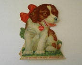 large stand up mechanical Valentine puppy dog