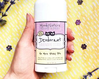 Organic Natural Deodorant - Baking Soda Free Vegan Deodorant - Moody Sisters Lavender Citrus