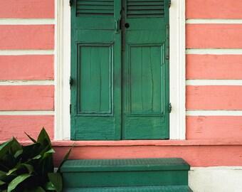 Green Doors In New Orleans