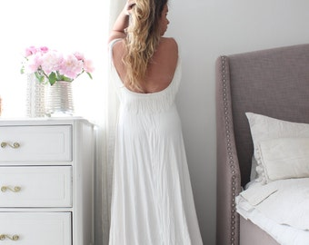 bohemian Wedding dress romantic low back wedding gown with lace and fringe