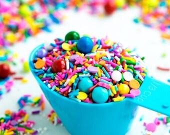 BRIGHT SKIES (GF) Sprinkle Medley, Gluten-Free, Rainbow Sprinkles, Canadian Sprinkles