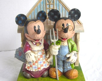Mickey Mouse Jim Shore Disney Showcase Minnie Mouse  Homegrown Enesco New In box