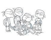 Turtle Intervention: Original Inked Sketch