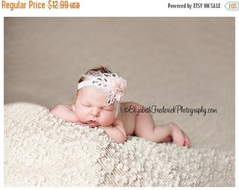 10% off SALE Baby headband, newborn headband, adult headband, child headband and photography prop The single sprinkled- chiffon three roses