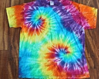Tie dye Tee shirt Double spiral