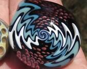 Boro Glass Lampwork Pendant Switchback Implosion Borosilicate Bead Collection