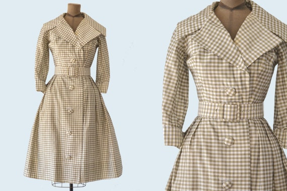 1950s Suzy Perette Gingham Dress size S