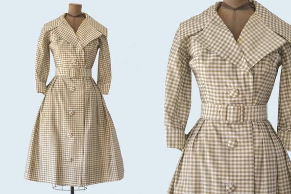 1950s Suzy Perette Gingham Dress size S