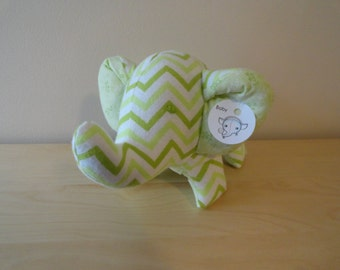 Baby Safe Large Stuffed Elephant- Green