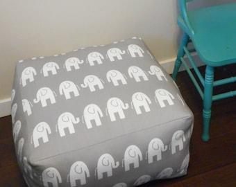 Square Floor Cushion / Elephant Pouf / Custom / Square Ottoman / Meditation cushion / Floor Pillow / Square Cushion / Box cushion / Pouf