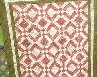 Handmade Quilts - Flower Quilt