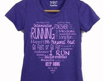 Running tee shirt for women's - running shirt for women's - running shirt - Heart shirt